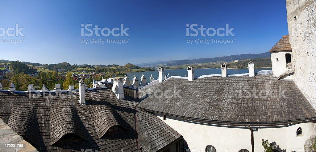Czorsztyn Lake stock photo