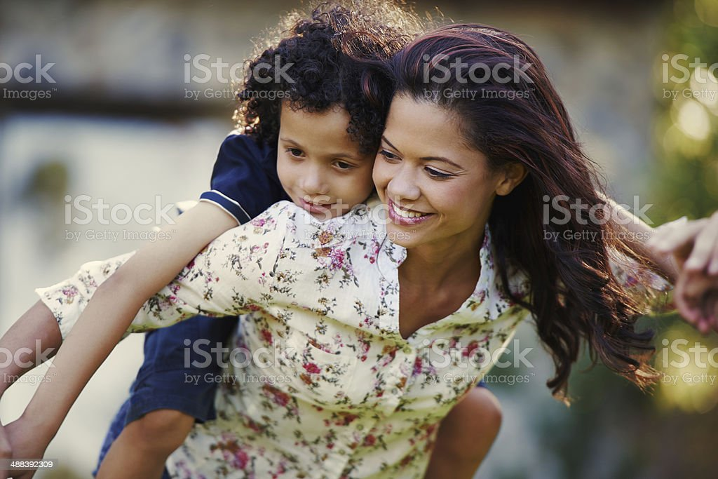 I'd carry him for more than nine months stock photo