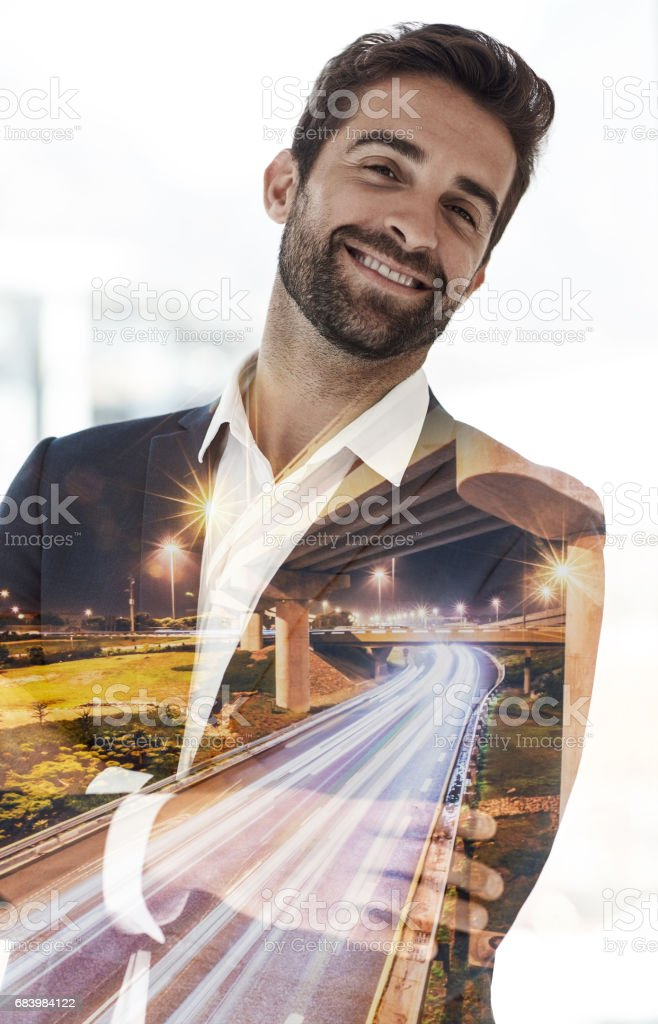 I'd say that success definitely suits me stock photo