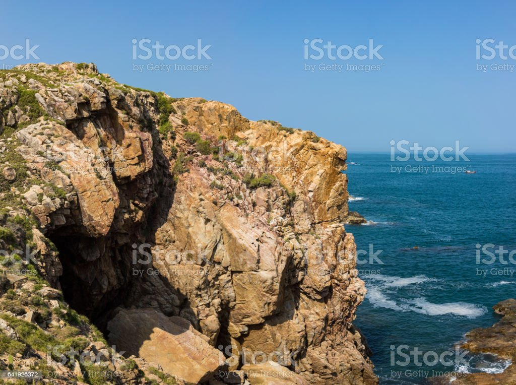 Da Dia cliff (Ghenh Da Dia) in Central Vietnam stock photo