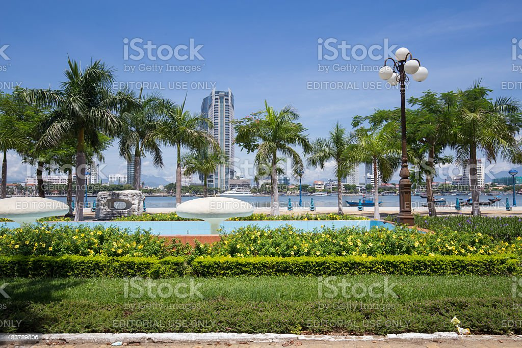 Da Nang city on Han riverbank. royalty-free stock photo