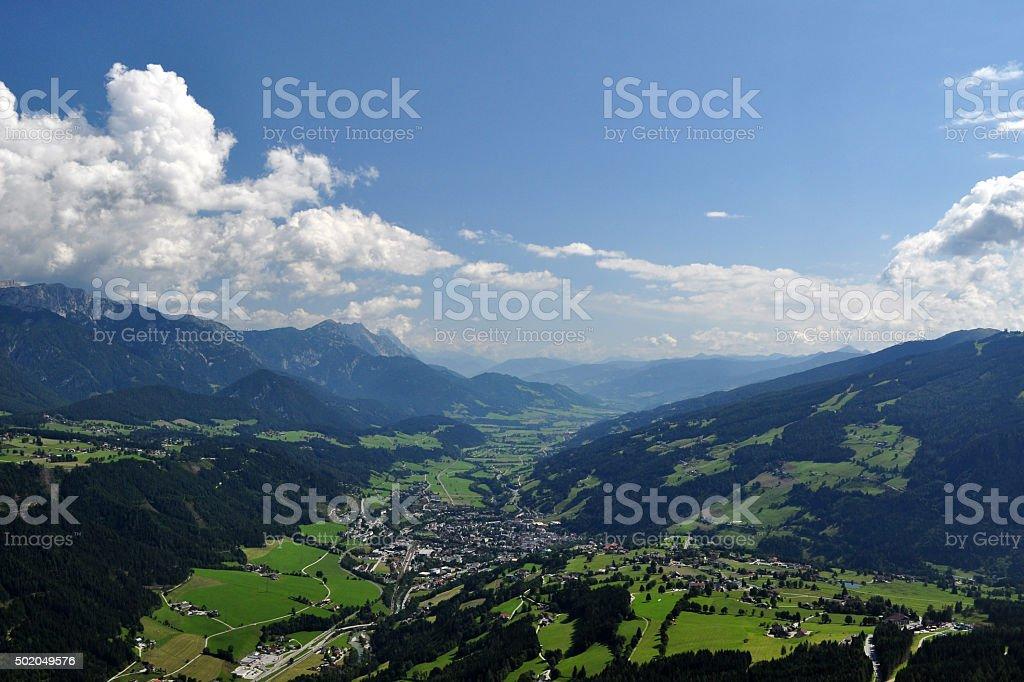 Dachstein Mountains, Styria, Austria stock photo