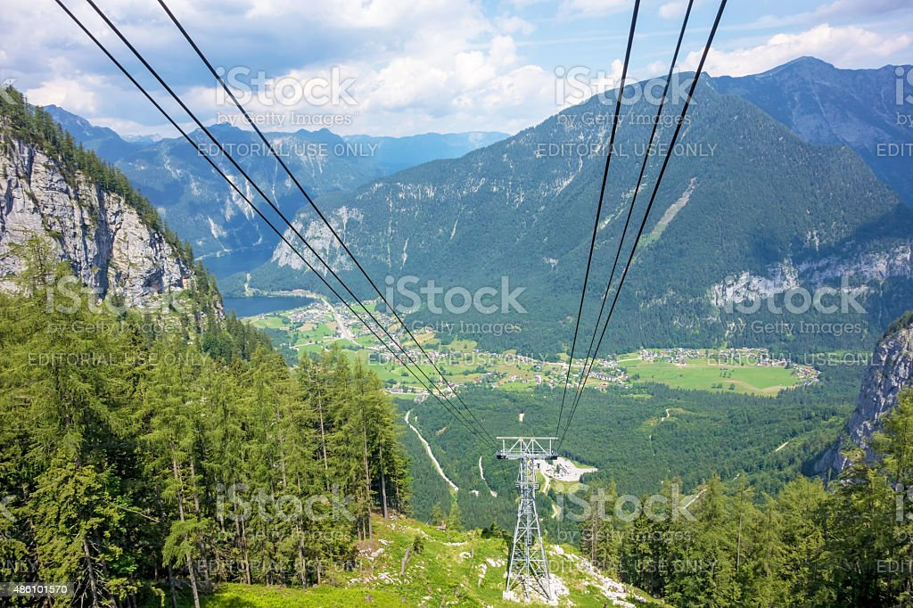 Dachstein, Obertraun, lake Hallstatt stock photo