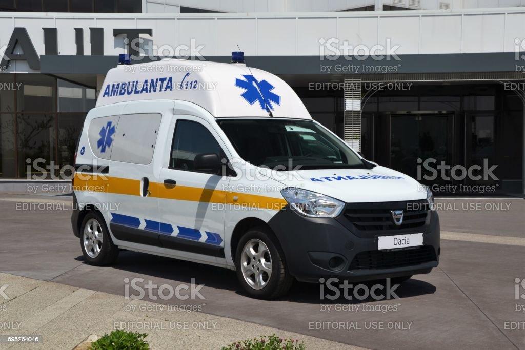 dacia dokker ambulance stock photo 695264046 istock. Black Bedroom Furniture Sets. Home Design Ideas