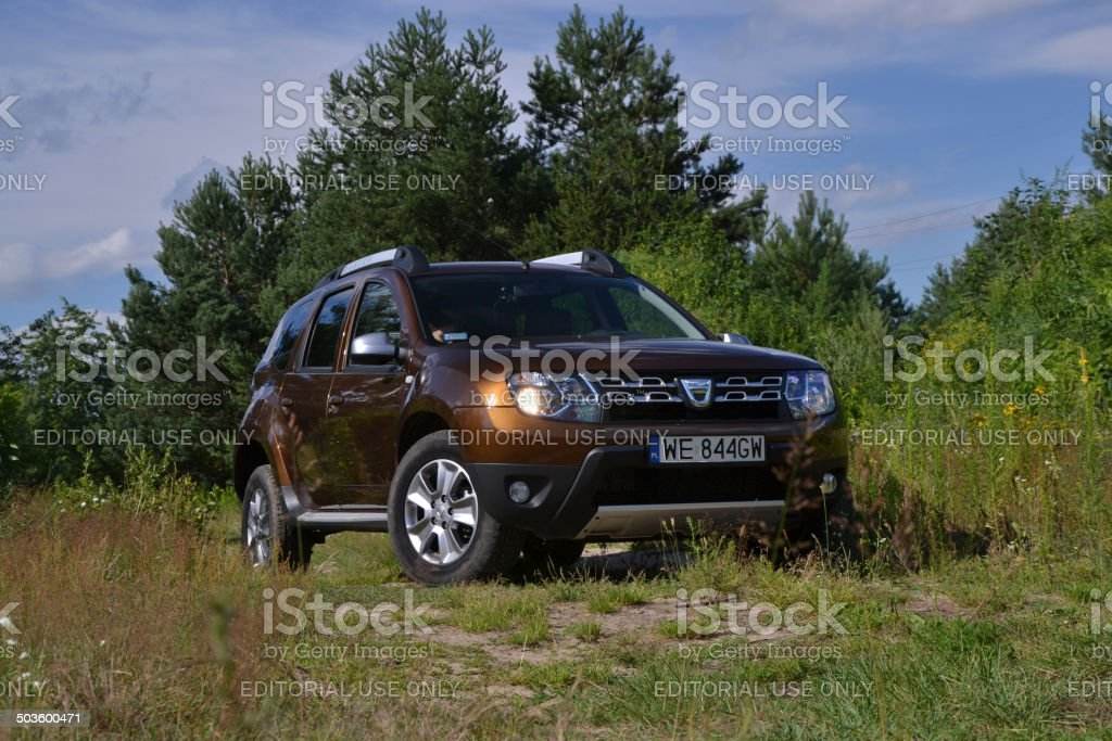 Dacia Duster - low-cost SUV at the test drive stock photo