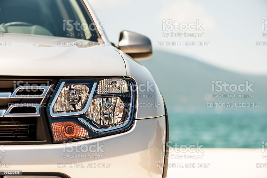 Dacia Duster SUV detail stock photo