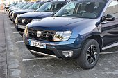 Dacia Duster vehicles on the parking