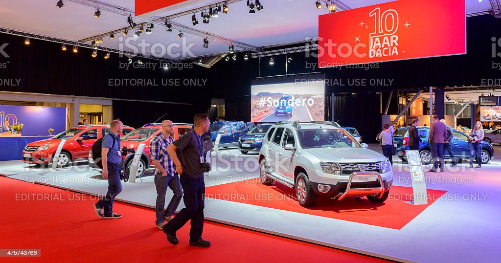 Dacia stand at the motor show stock photo
