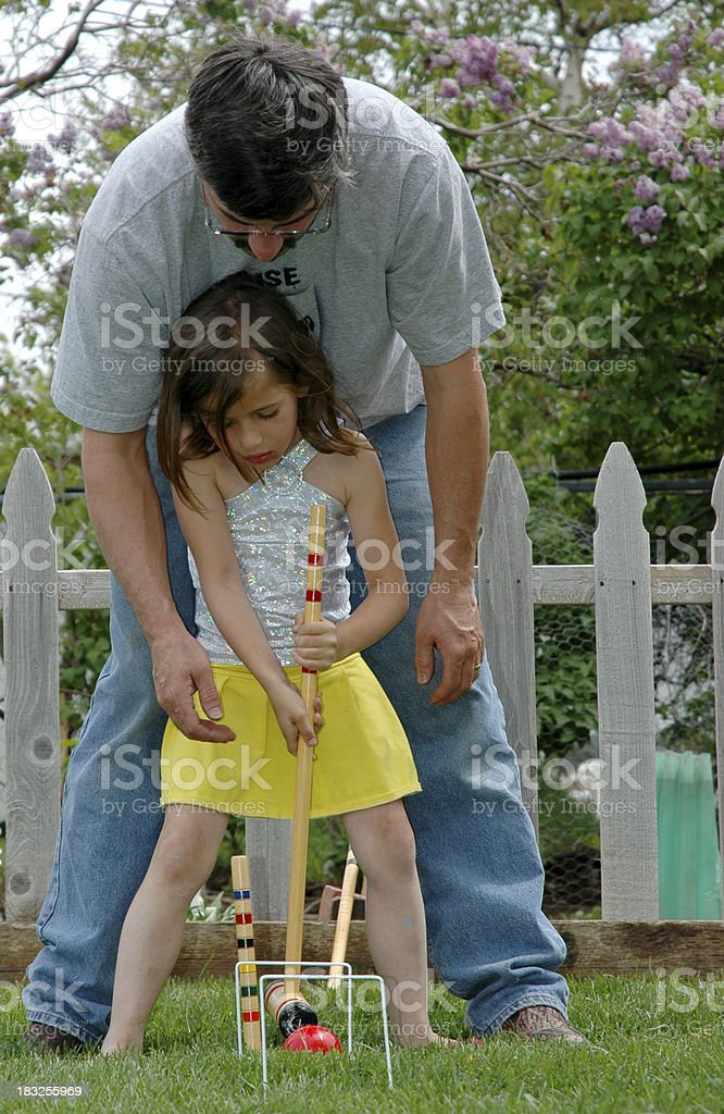 Dad and Daughter stock photo