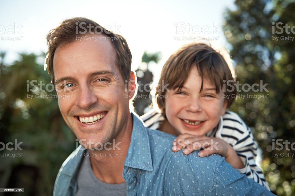 Dad and I always have so much fun together stock photo