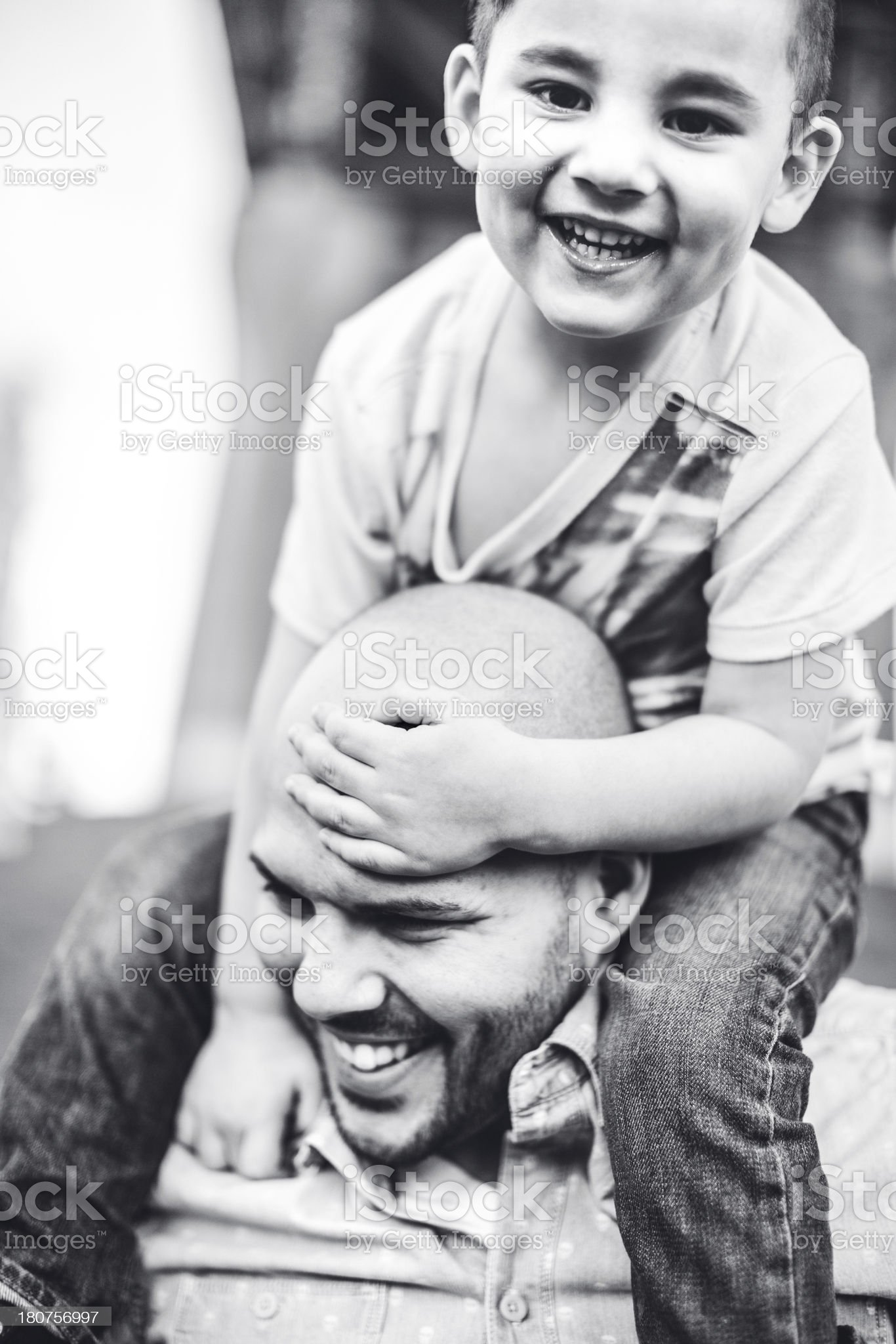 Dad and Son royalty-free stock photo
