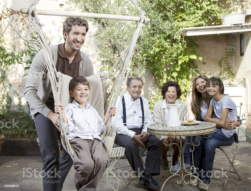 Dad And Son Playing Together royalty-free stock photo