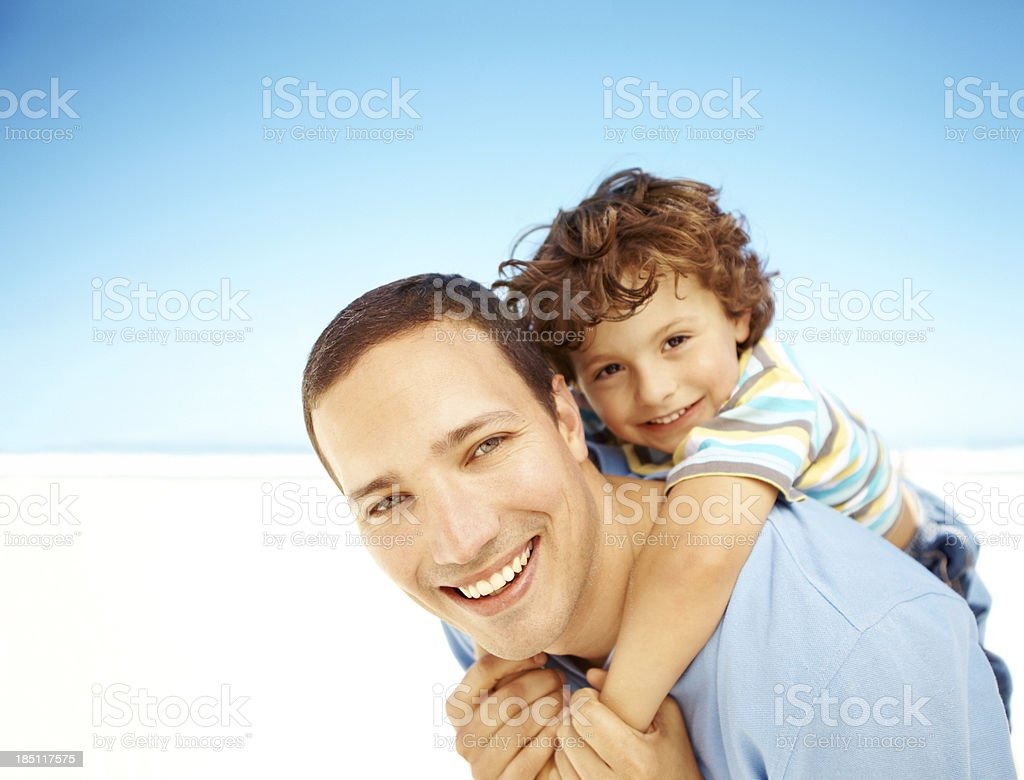 Dad is my best friend royalty-free stock photo