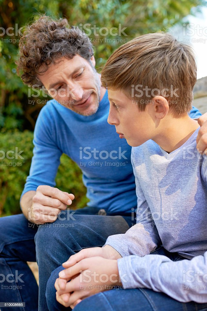 Dad knows best stock photo