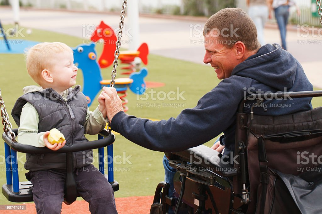 Dad play with child. stock photo