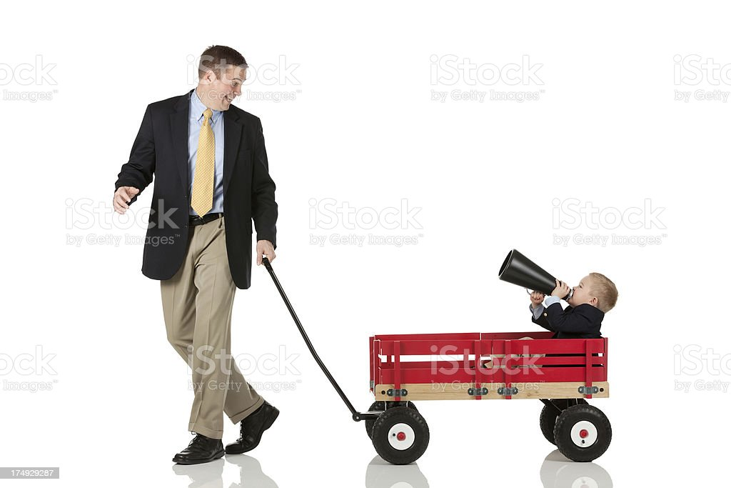 Dad playing with son royalty-free stock photo