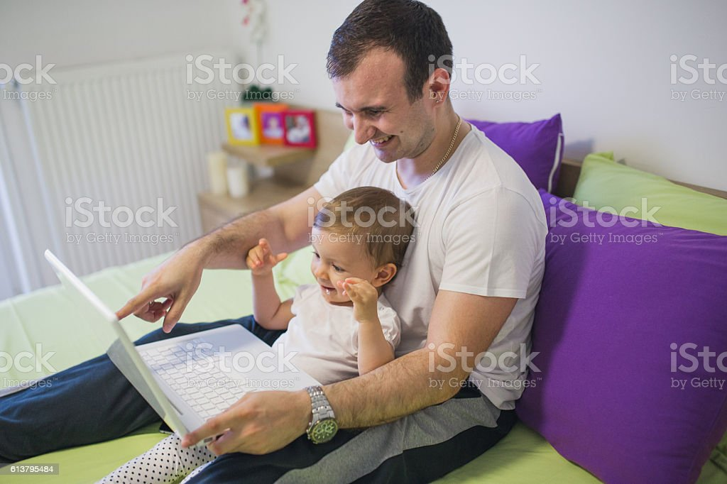Dad this is funy stock photo