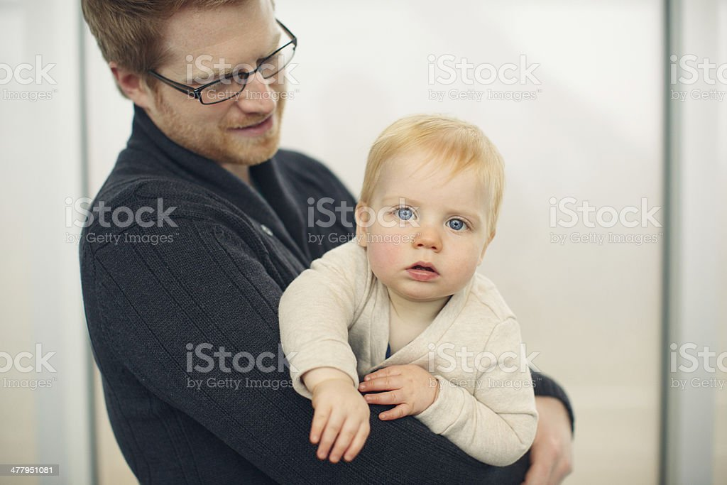 dad with child stock photo