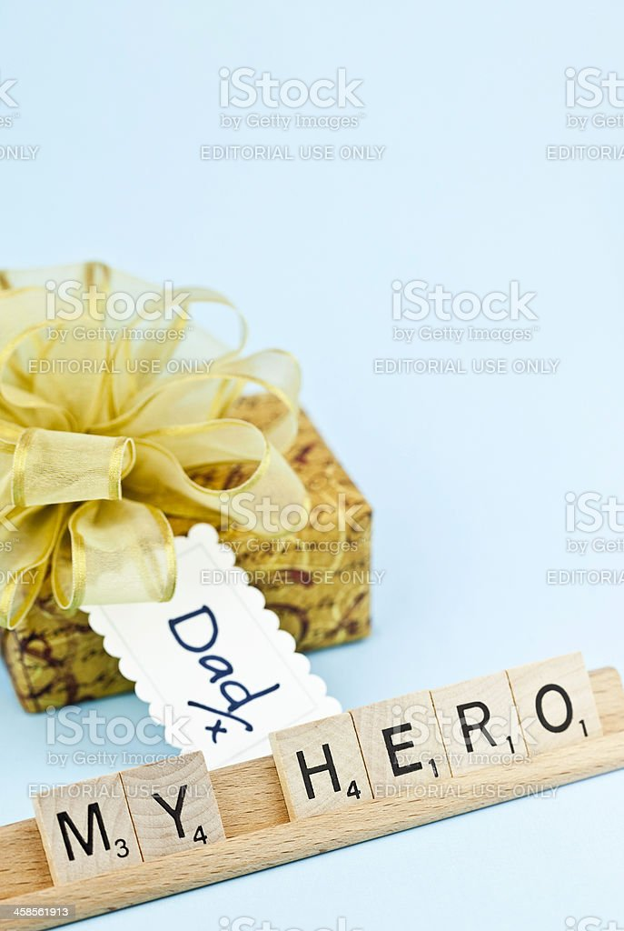 Dad you are My Hero royalty-free stock photo