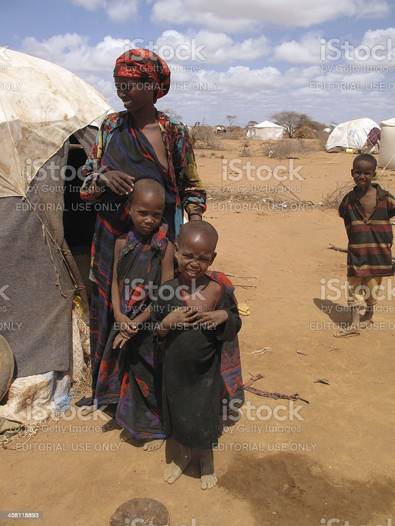 Dadaab Refugee Camp in Somalia stock photo