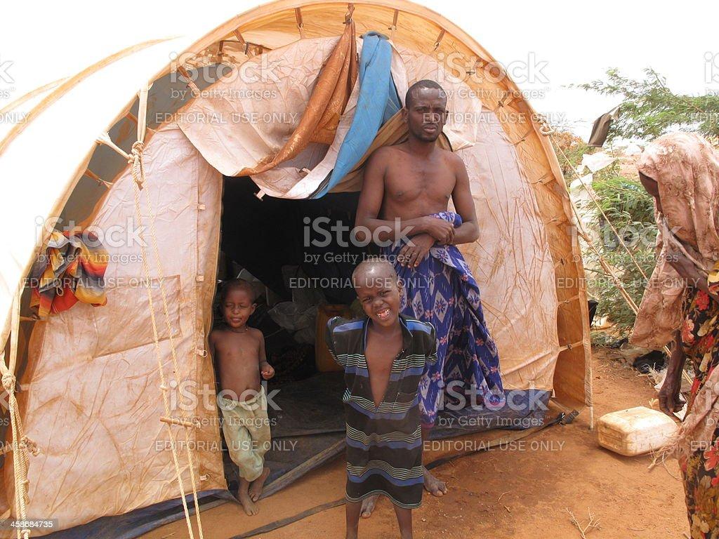 Dadaab Refugee Camp in Somalia royalty-free stock photo