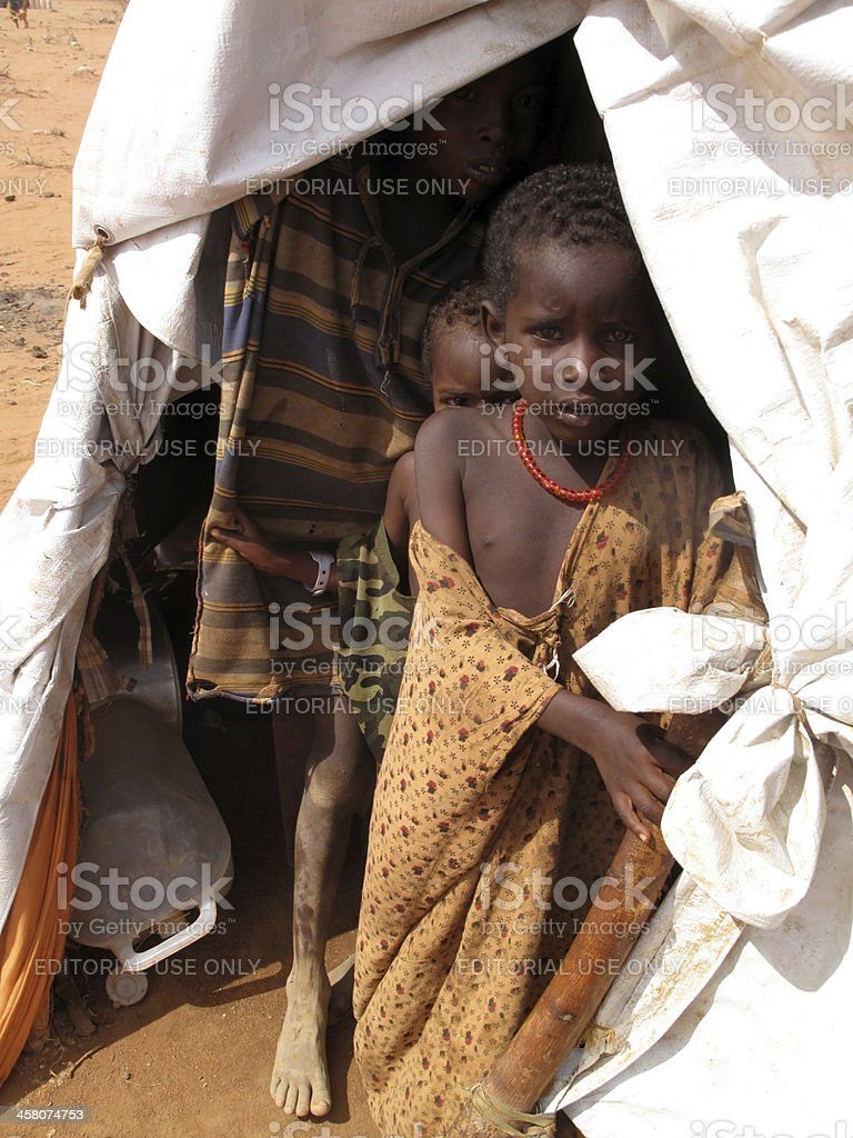 Dadaab Refugee Camp royalty-free stock photo