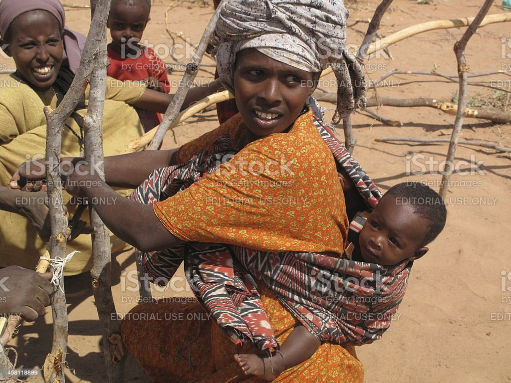 Dadaab Refugee Camp stock photo