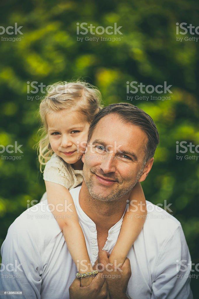 daddies little girl stock photo