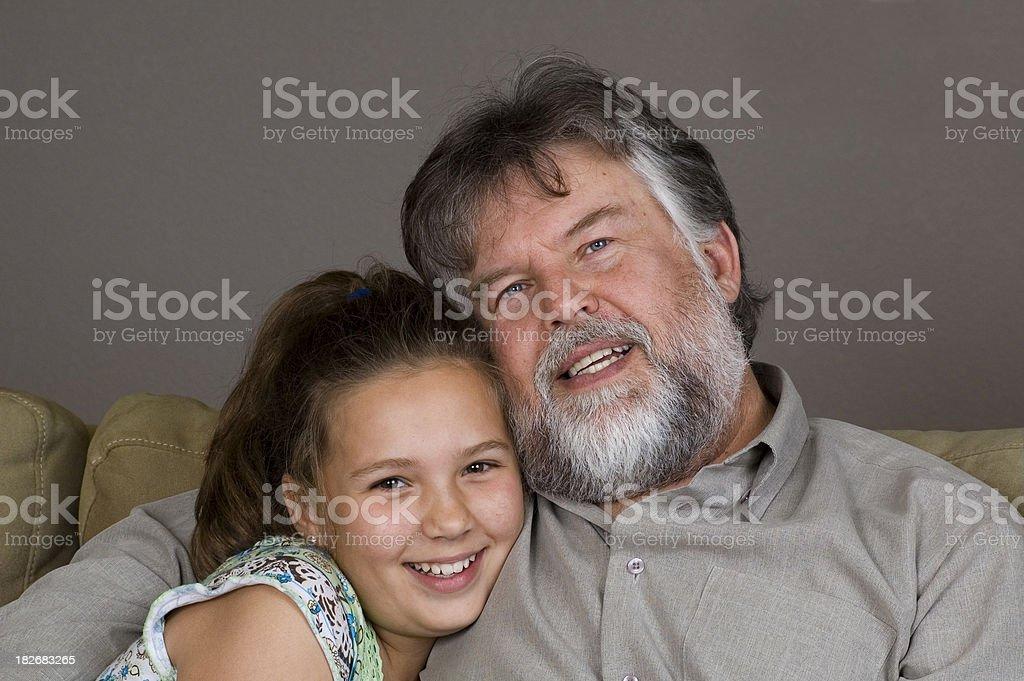 Papà e figlia foto stock royalty-free