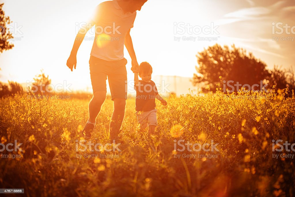 Daddy and me stock photo