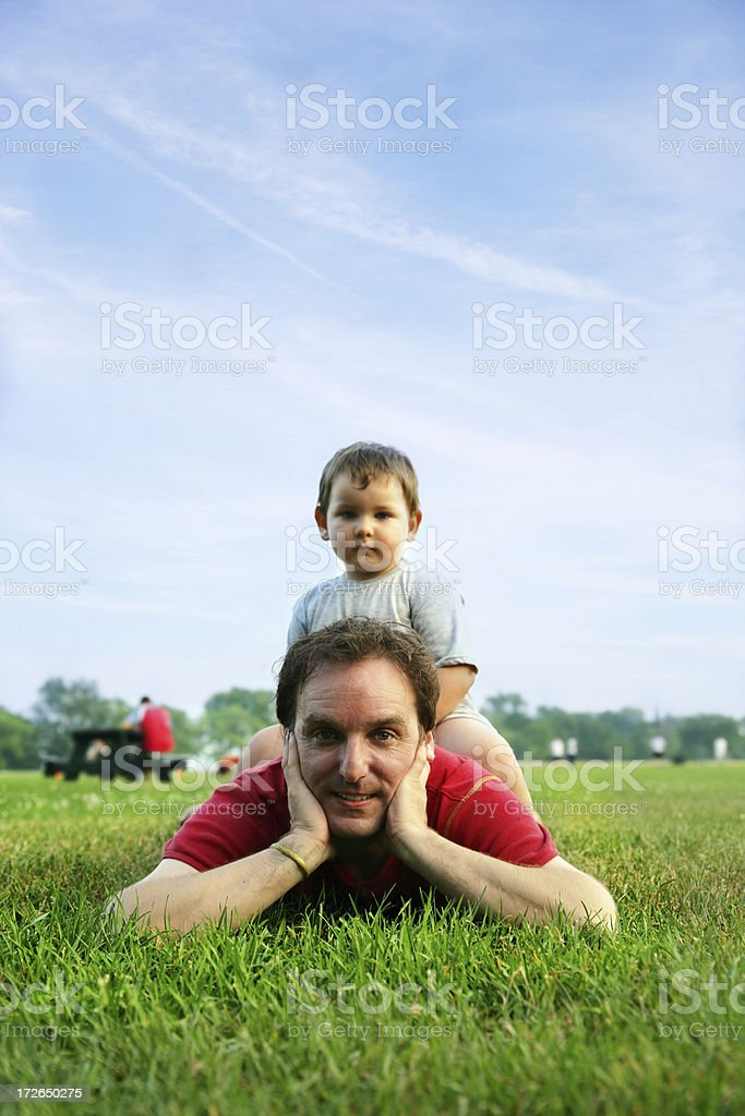 Daddy and son royalty-free stock photo