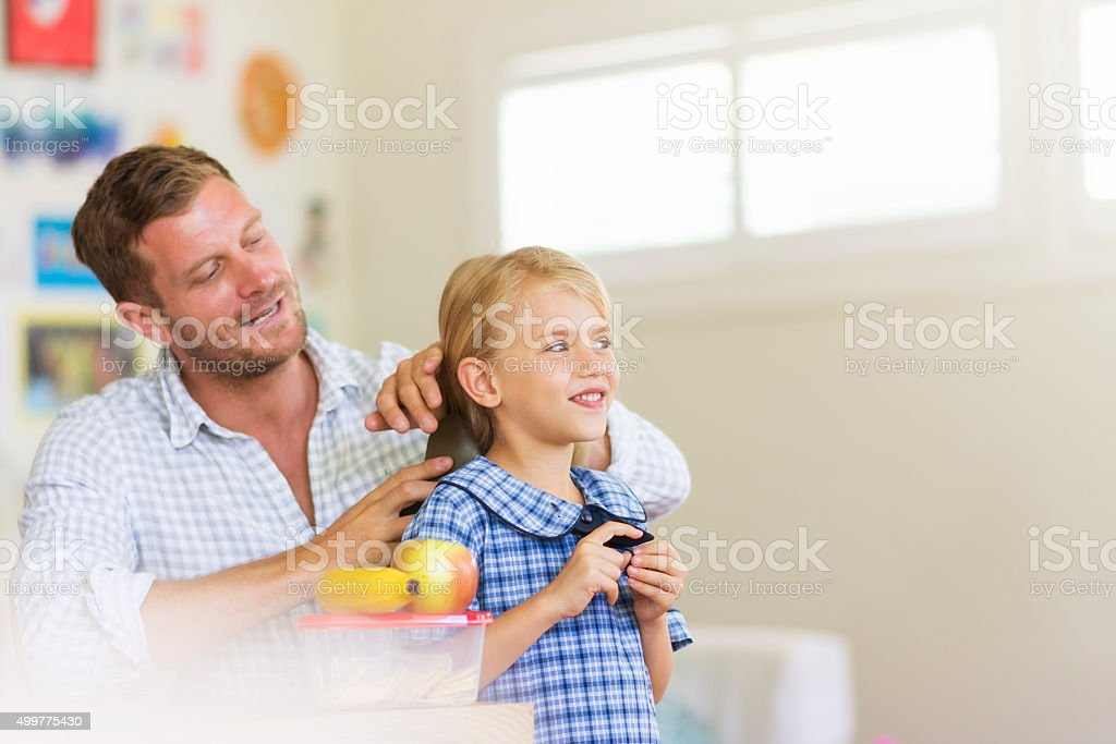 Daddy is the best stock photo