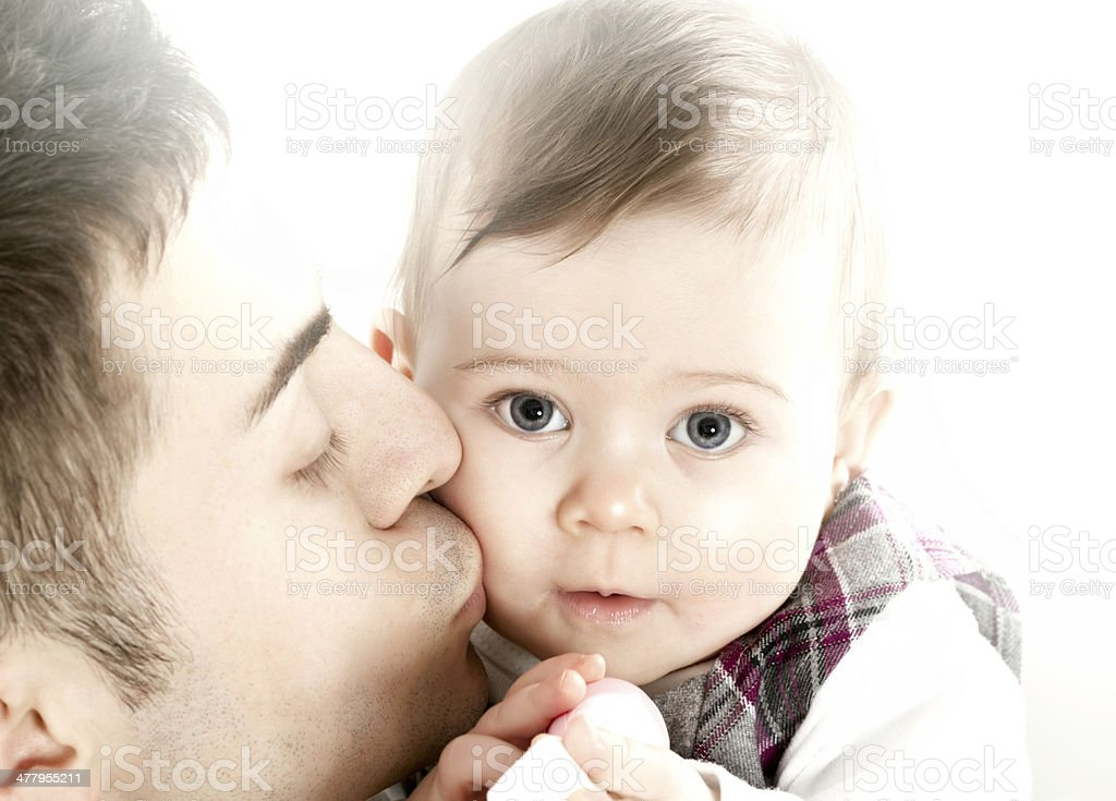 Daddy loves you very much royalty-free stock photo