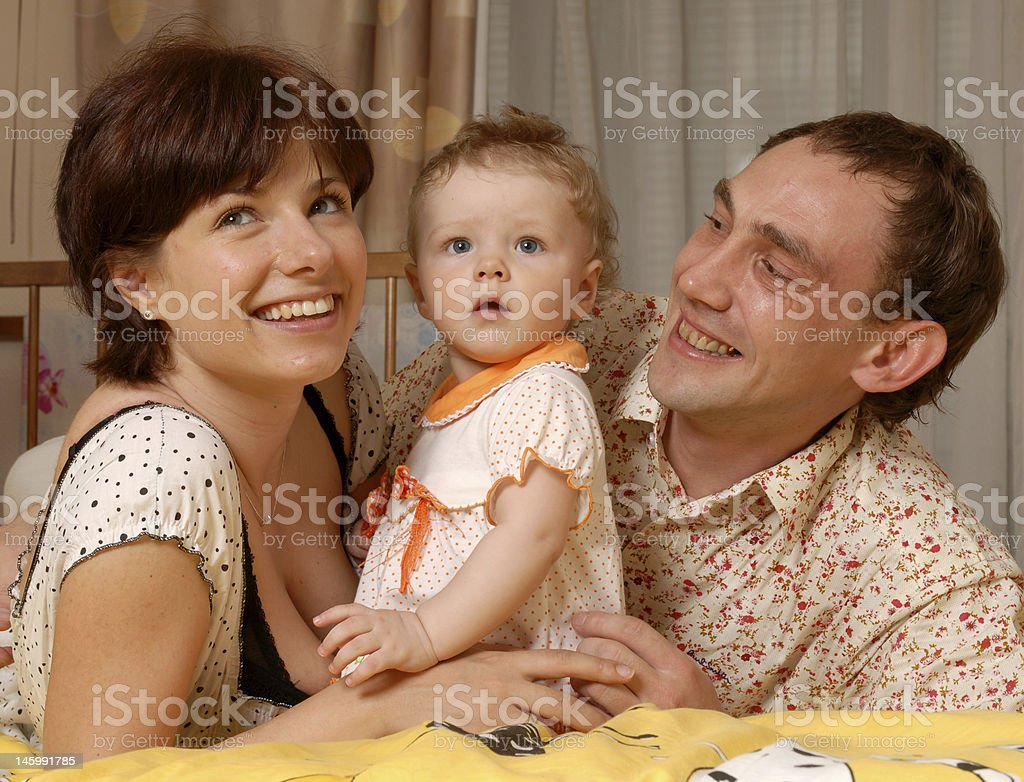Daddy mum and their child royalty-free stock photo