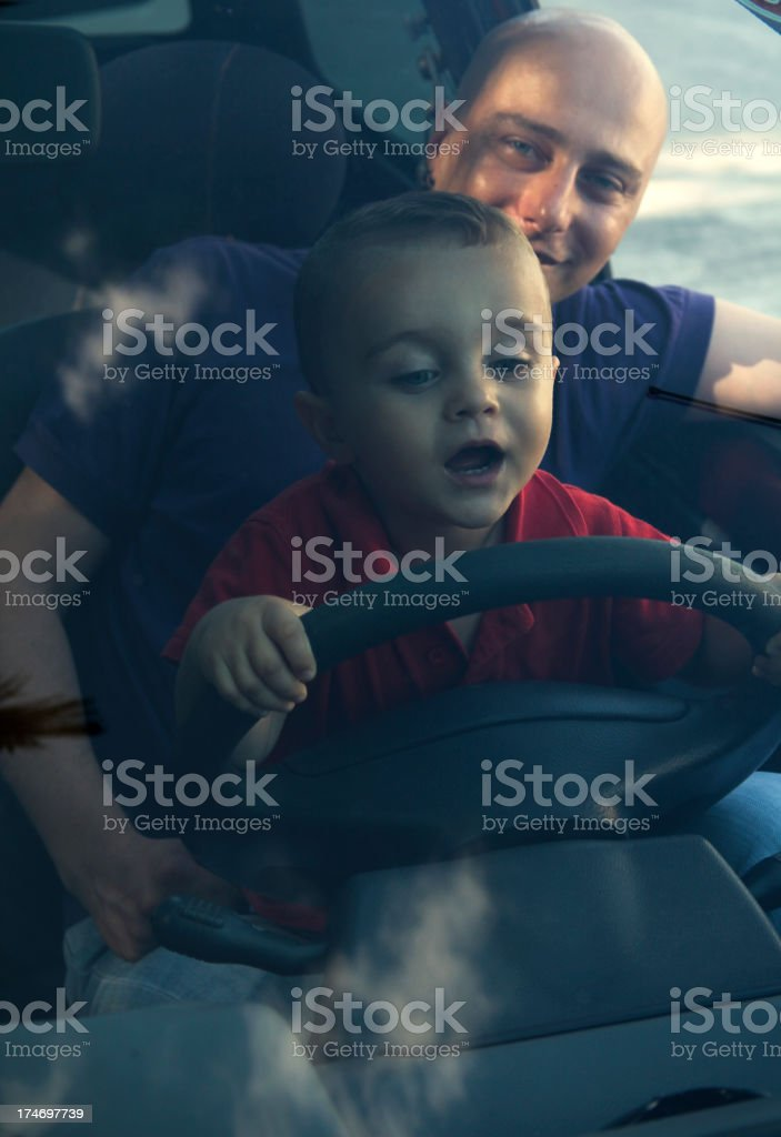Daddy on Board royalty-free stock photo