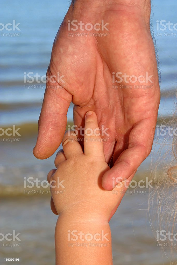 Daddy Please Hold My Hand royalty-free stock photo