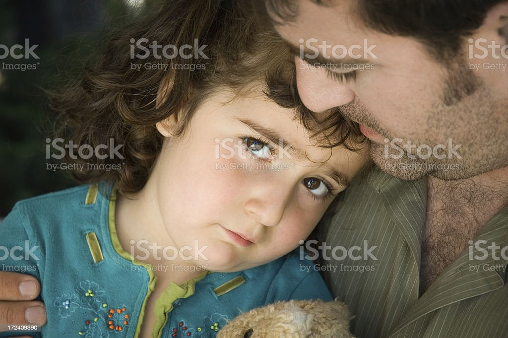 Daddy's Comfort - Series royalty-free stock photo