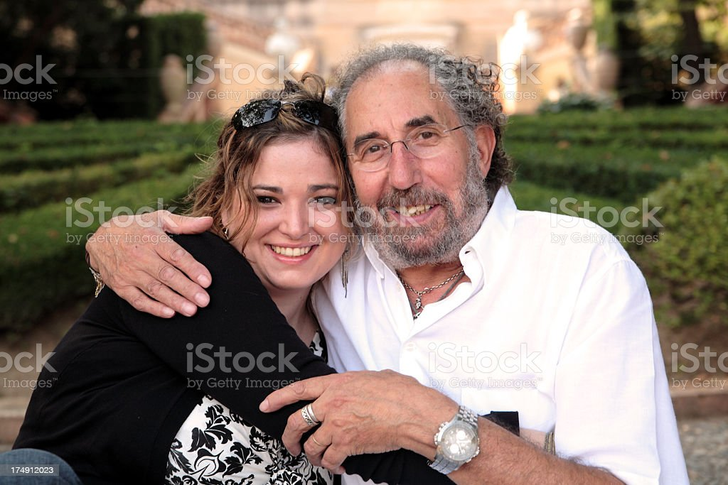 Daddy's girl. stock photo