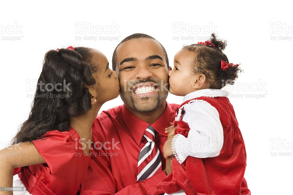 Daddy's Girls royalty-free stock photo