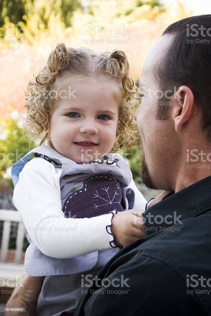 Daddy's Little Girl stock photo