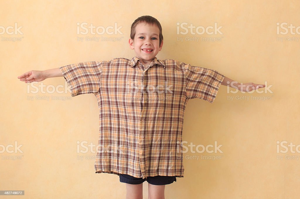 daddy's shirt stock photo