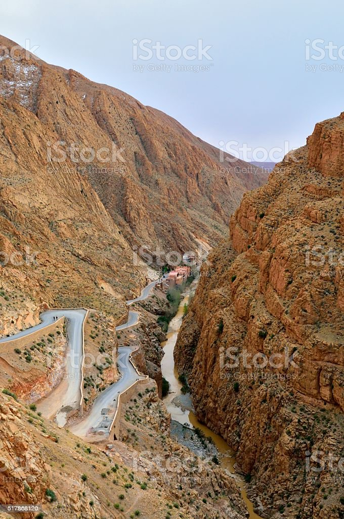 Dades Gorge Switchback Highway stock photo