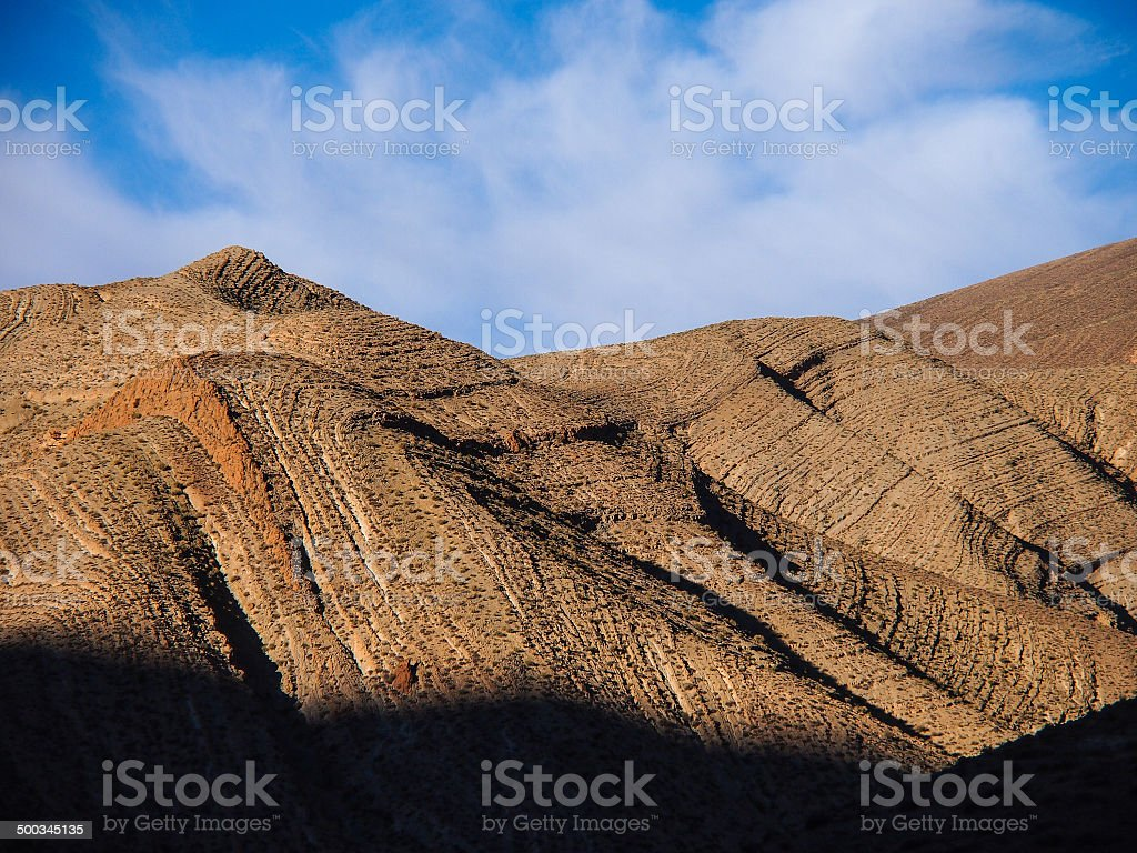 dades valley wild landscape  in Morocco royalty-free stock photo