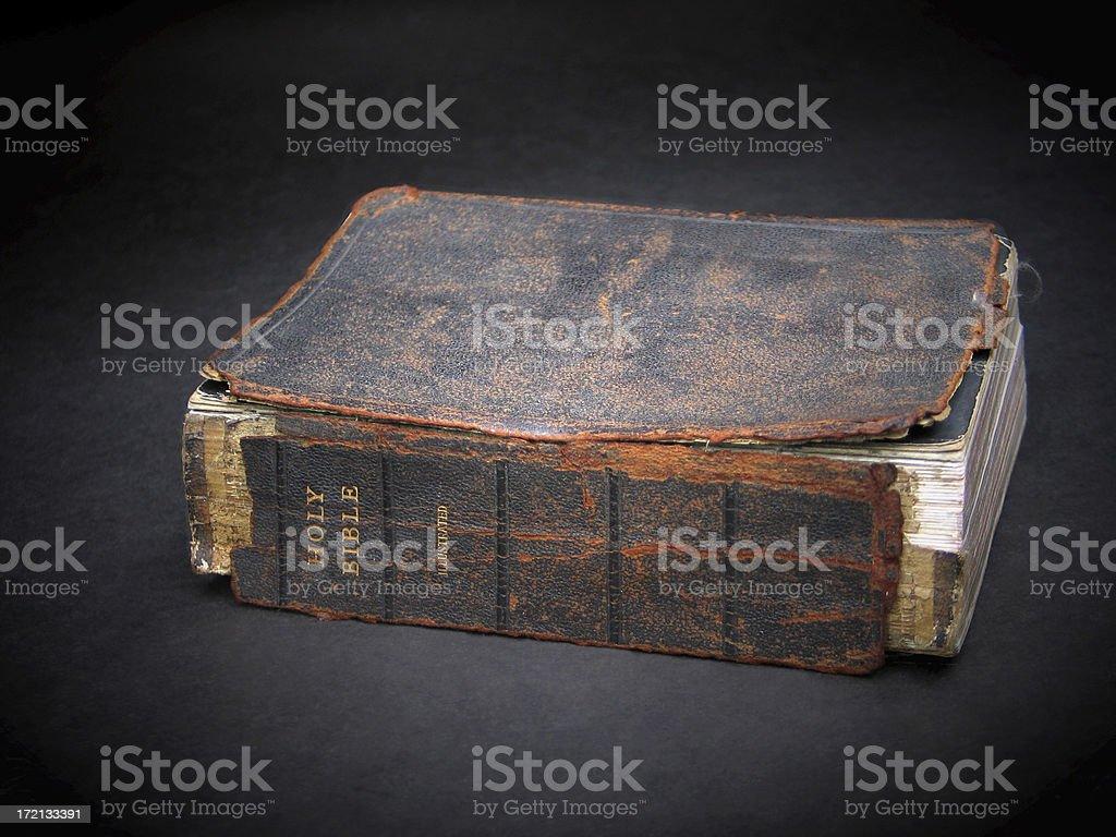 Dad's Bible stock photo