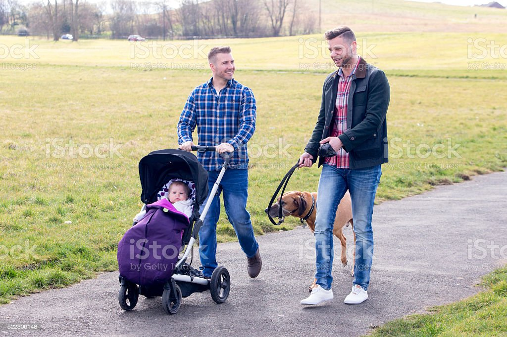Dads day out stock photo