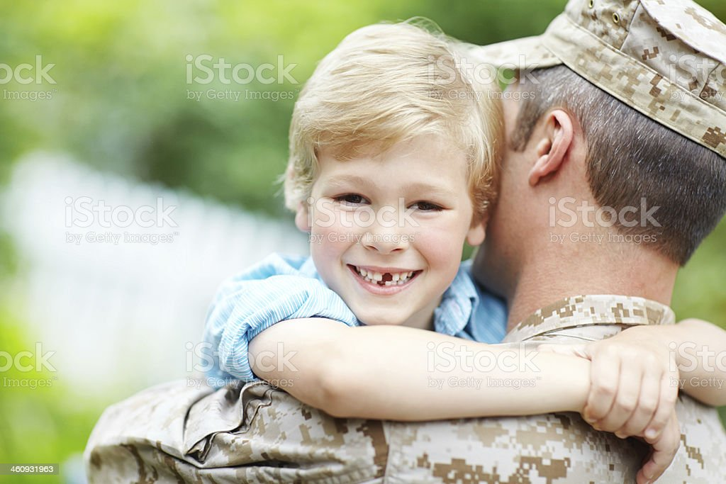 Dad's my hero! royalty-free stock photo
