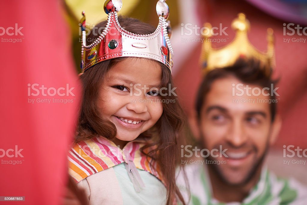 Dad's the best! stock photo