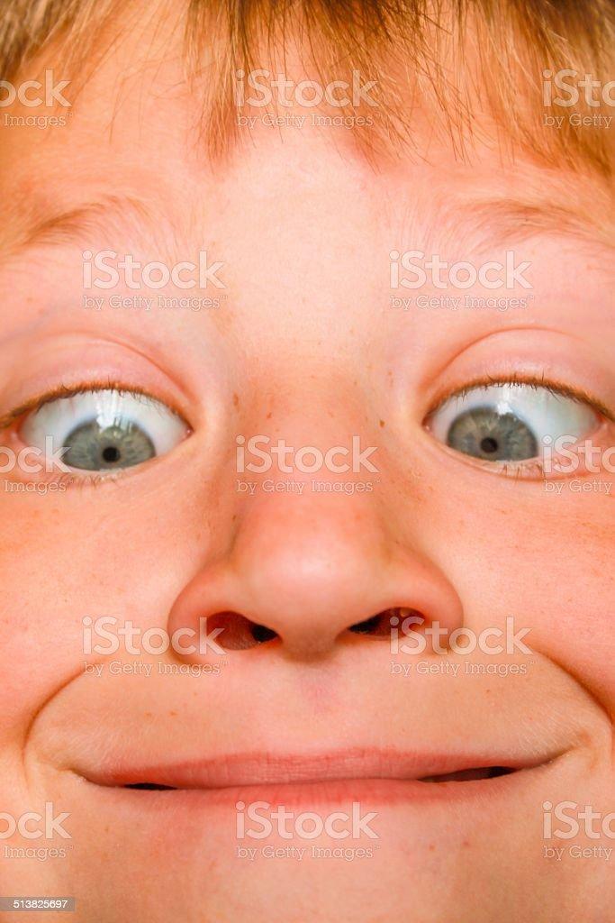 Daft Face stock photo