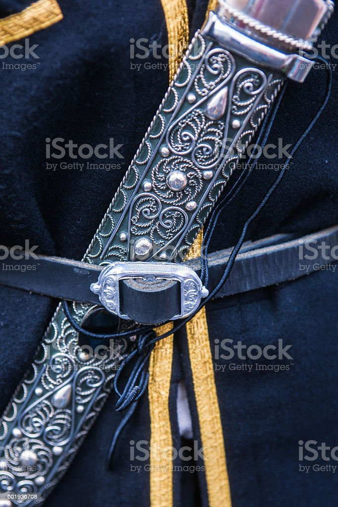 Dagger - indispensable attribute of a Caucasian male dress stock photo