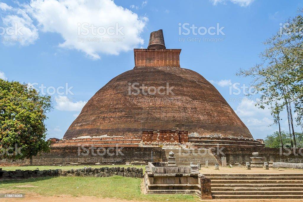 Dagoba of Jetavana Vihara in Anuradhapura stock photo